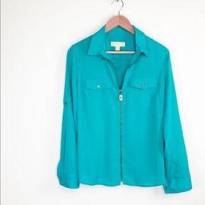 Michael Kors zip up blouse